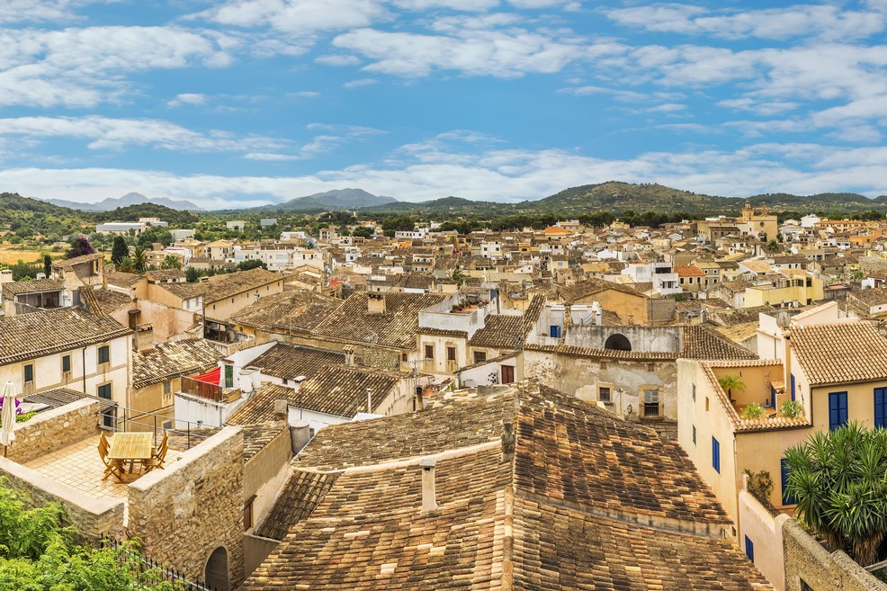 La città vecchia di Artà a Maiorca